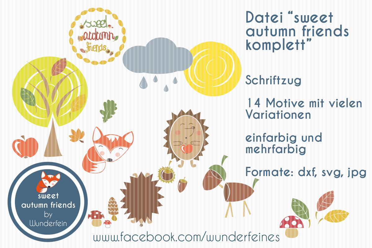 Plotterdatei sweet autumn friends