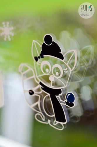 eulis naehwerkstatt rosa raccoon winter acryl auf glas. Black Bedroom Furniture Sets. Home Design Ideas