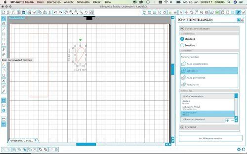 Label aus SnapPap plotten - Label zeichnen mit Herz-Symbol