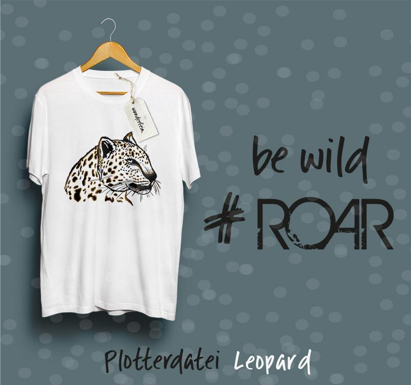 Plotterdatei Leopard inklusive Schriftzüge von wunderfein