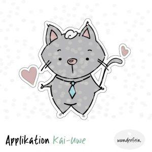 Applikation Kater Kai-Uwe design by wunderfein