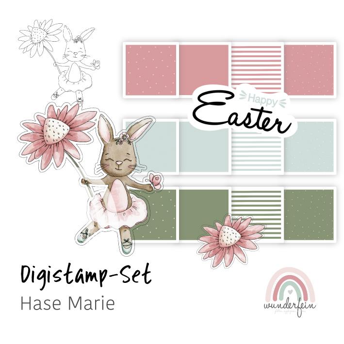 Digistamp-Set Hase Marie von wunderfein