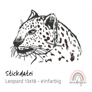 Stickdatei Leopard 13x18 einfarbig