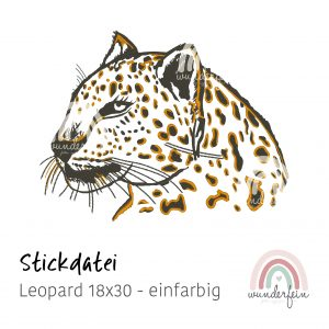 Stickdatei Leopard 18x30