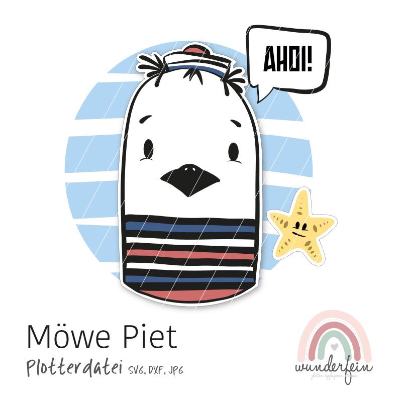 Plotterdatei Möwe Piet von wunderfein