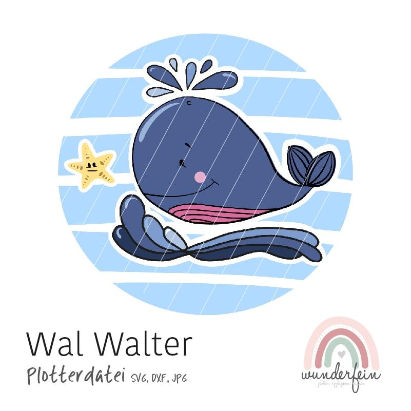 Plotterdatei Wal Walter von wunderfein