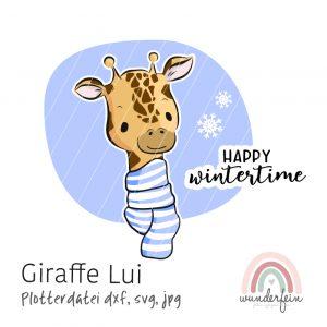 Plotterdatei Giraffe Lui von wunderfein