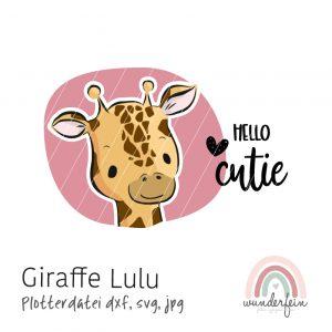 Plotterdatei Giraffe Lulu von wunderfein