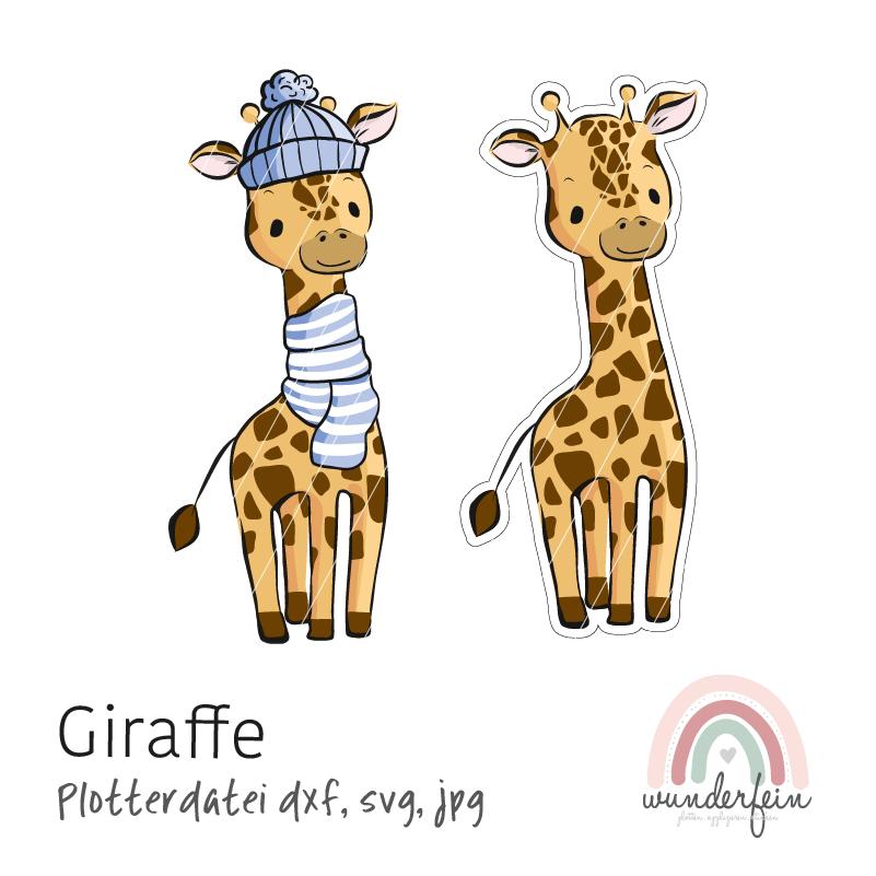 Plotterdatei Giraffe von wunderfein