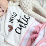 Plott Hello Cutie Schriftzug von wunderfein