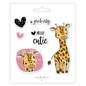 Bügelbild Giraffe Lulu von Wunderfein, PVC-frei, Öko-tex zertifiziert
